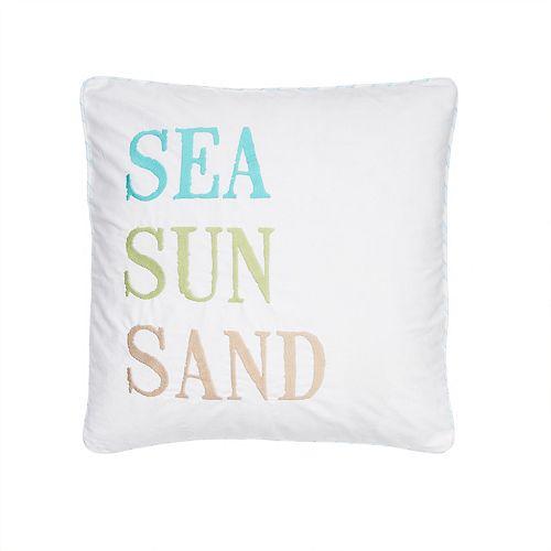 Biscayne ''Sea Sun Sand'' Throw Pillow