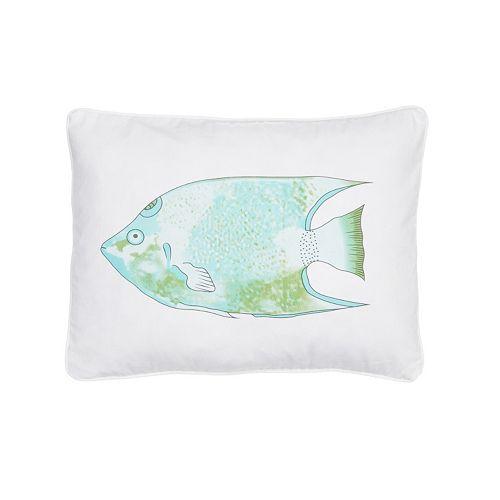 Biscayne Fish Throw Pillow