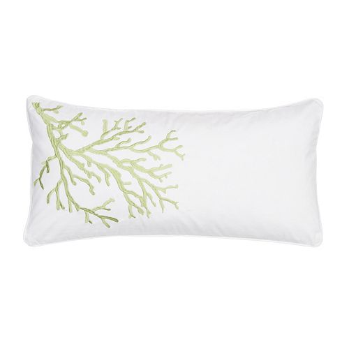 Biscayne Coral Throw Pillow