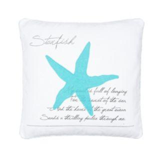 Biscayne Starfish Throw Pillow