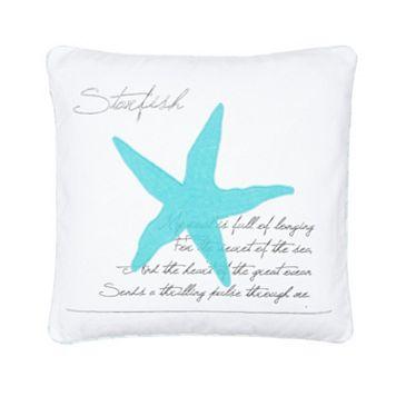 Calero Starfish Throw Pillow