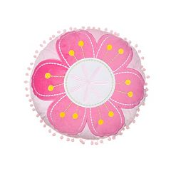 Chloe Flower Round Throw Pillow