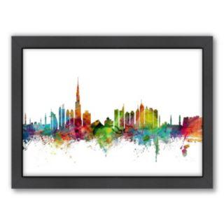 Americanflat Michael Tompsett ''Dubai Skyline II'' Framed Wall Art