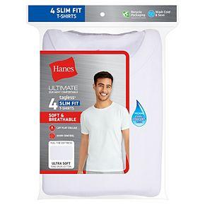 Men's Hanes Ultimate 4-pack Slim-Fit ComfortBlend Tees