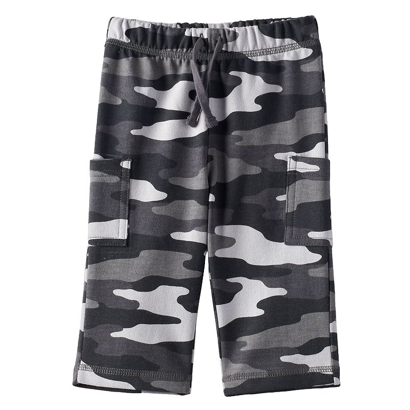 Jumping Beans® Camo French Terry Cargo Pants - Baby Boy