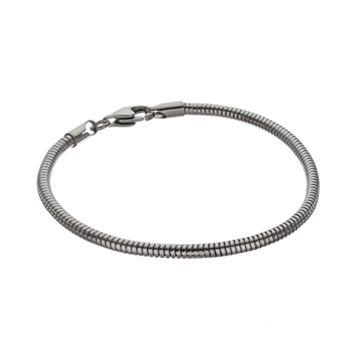 Blue La Rue Stainless Steel Snake Chain Bracelet