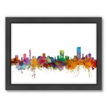 Americanflat Michael Tompsett ''Pretoria Skyline II'' Framed Wall Art