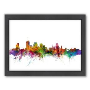 Americanflat Michael Tompsett ''Quebec Skyline II'' Framed Wall Art
