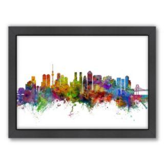 Americanflat Michael Tompsett ''Tokyo Skyline I'' Framed Wall Art