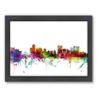 Americanflat Michael Tompsett ''Winnipeg Skyline'' Framed Wall Art