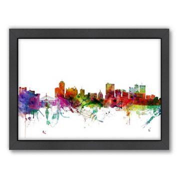 Americanflat Michael Tompsett ''Winnipeg Skyline'' Framed Wall Art