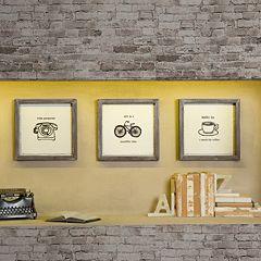 Intelligent Design 3-piece ''Morning News'' Canvas Wall Art Set