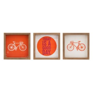 Intelligent Design 3-piece ''Today is A Good Day'' Wall Art Set