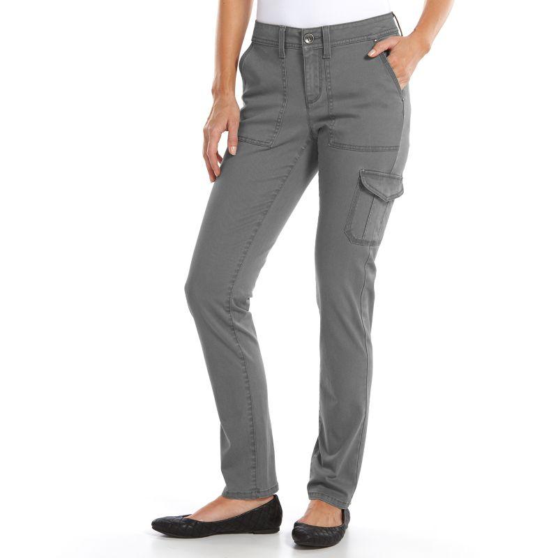 Sonoma life style slim straight leg cargo utility pants women s