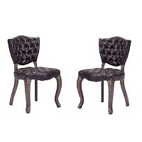 Zuo Era 2 pc Leavenworth Dining Chair Set
