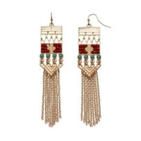 GS by gemma simone Samurai Warrior Collection Fringe Drop Earrings