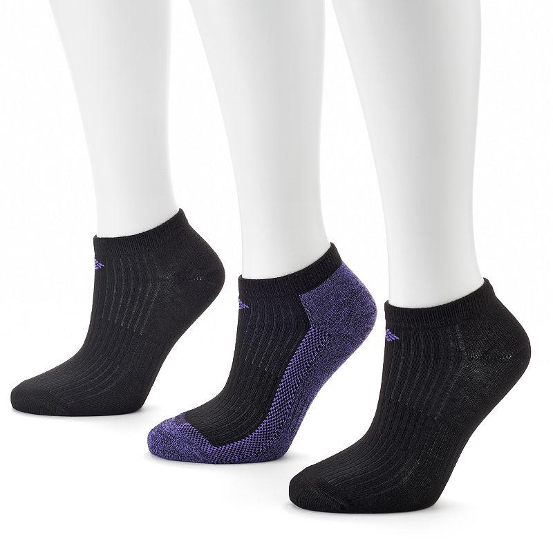 Columbia 3-pk. Marled Ribbed Low-Cut Socks - Women