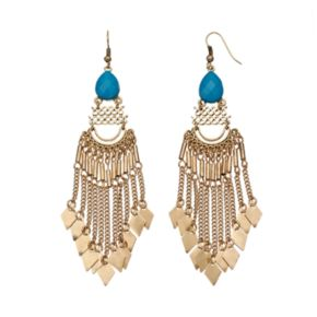 GS by gemma simone Sun Salutation Collection Fringe Drop Earrings