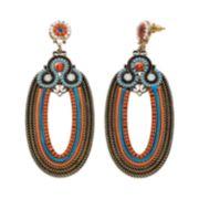 GS by gemma simone Sun Salutation Collection Oval Drop Earrings
