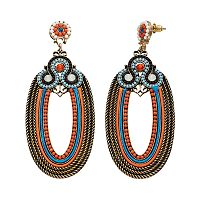 GS by gemma simone Sun Salutation Collection Oval Drop Earrings