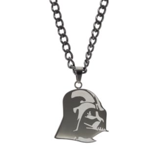 Star Wars Men's Two Tone Stainless Steel Darth Vader Pendant Necklace