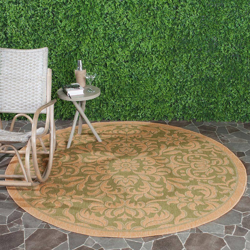 Safavieh Courtyard Scroll Indoor Outdoor Patio Rug