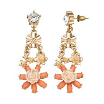 GS by gemma simone Fresh Cut Flowers Collection Drop Earrings