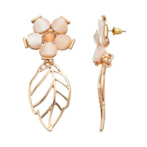 GS by gemma simone Fresh Cut Flowers Collection Leaf Drop Earrings