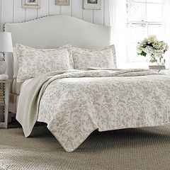 Laura Ashley Lifestyles Amberley Biscuit Quilt Set