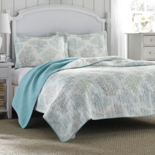 Laura Ashley Lifestyles Saltwater Reversible Quilt Set