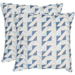 Safavieh 2-piece Nautical Geo 20'' x 20'' Throw Pillow Set