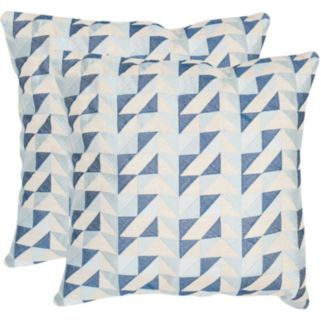 Safavieh 2-piece Nautical Geo 20'' x 20'' Throw Pillow Set