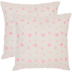 Safavieh 2-piece Candy Buttons Polka-Dot Throw Pillow Set