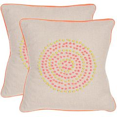 Safavieh 2 pc Love Knots Throw Pillow Set