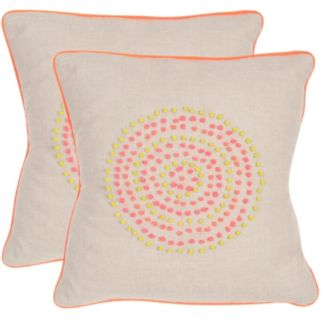 Safavieh 2-piece Love Knots Throw Pillow Set