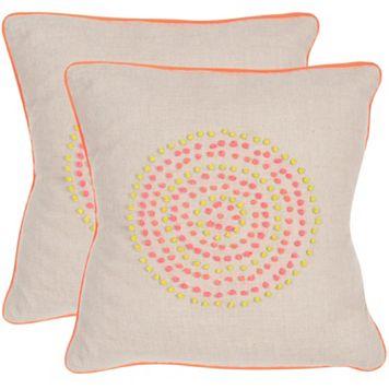 Safavieh 2-piece Love Knots Throw Pillow Set