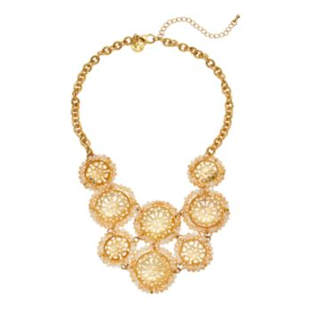 GS by gemma simone Vintage Filigree Collection Circle Link Bib Necklace