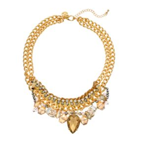 GS by gemma simone Vintage Filigree Collection Bead Bib Necklace