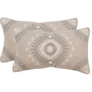 Safavieh 2-piece Aiyana 12'' x 20'' Throw Pillow Set