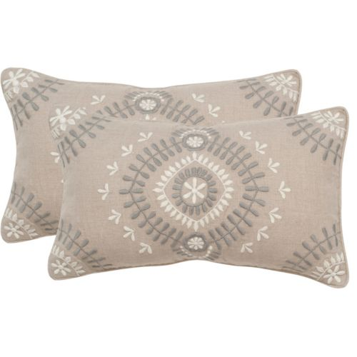 "Safavieh 2-piece Aiyana 12"" x 20"" Throw Pillow Set"