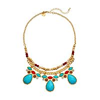 GS by gemma simone Samurai Warrior Collection Teardrop Bib Necklace
