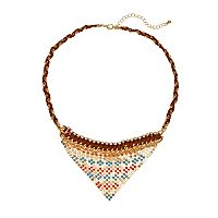 GS by gemma simone Sun Salutation Collection Triangle Necklace