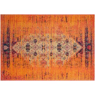 Safavieh Monaco Distressed Orange Geometric Rug
