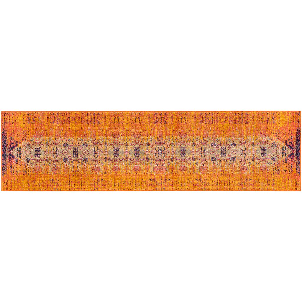 Safavieh Monaco Distressed Orange Geometric Rug