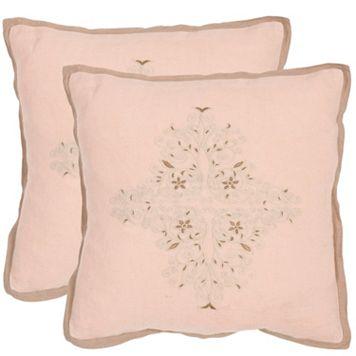 Safavieh 2-piece Liege Throw Pillow Set