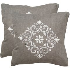 Safavieh 2-piece Regina 20'' x 20'' Throw Pillow Set