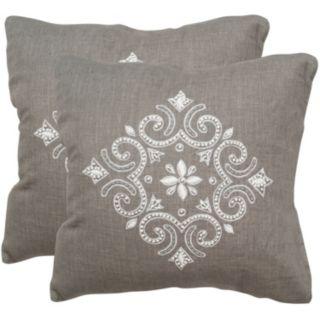 Safavieh 2-piece Regina 20'' x 20'' Throw Pillow Set
