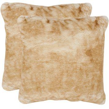 Safavieh 2-piece Faux Fox Throw Pillow Set