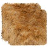Safavieh 2-piece Faux Raccoon Throw Pillow Set