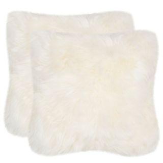 Safavieh 2-piece Faux Arctic Fox Throw Pillow Set